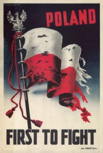POLAND FIRST TO FIGHT - M. Żuławski Plakat A3