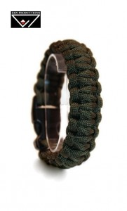 Bransoletka Paracord 550 Army Green