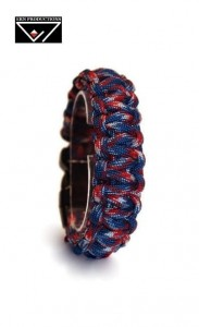 Bransoletka Paracord 550 Blue Red Camo