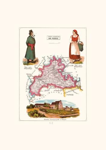 Mapa Sierpc Powiat Sierpecki Gubernia Plocka A3 Stylowy Dwor